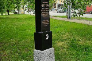 Odhalení pomníku Antonína Ježka